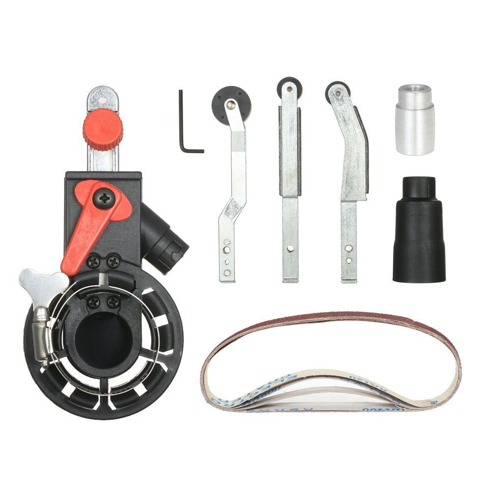 Multifunction Mini Sander Sanding Belt Adapter Bandfile Belt Sander DIY for 100mm Electric Angle Grinder