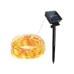 100/200 Led luz Solar de hadas lámpara tira 10 M 20 m al aire libre impermeable vacaciones boda, navidad, Año Nuevo decoración cadena