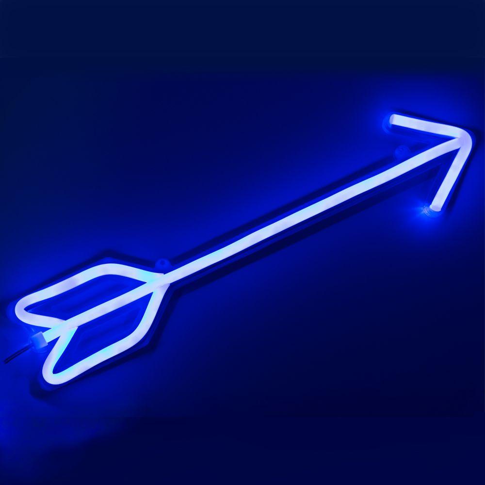 CHIBUY LED enseigne au néon lumière néon enseigne décor à la maison mur néon décoration vacances décoration arc bleu flèche