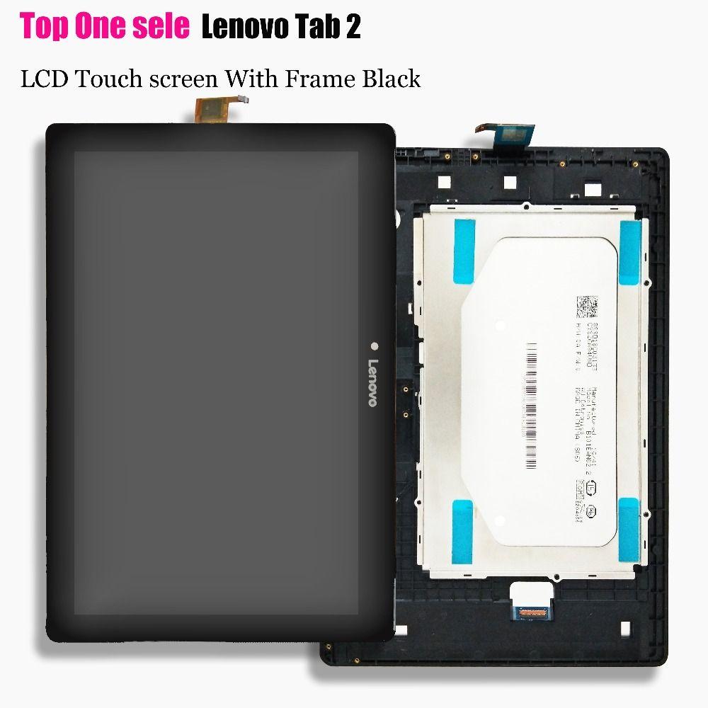Fo Lenovo Tab 2 A10-30 YT3-X30 X30F TB2-X30F tb2-x30l tb2-x30m a6500 10.1 Panneau D'affichage À CRISTAUX LIQUIDES avec le Convertisseur Analogique-Numérique D'écran Tactile L'assemb