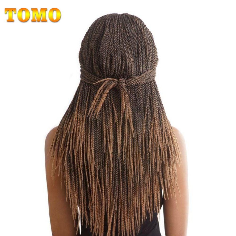 TOMO 14 16 18 20 22 Pouces 30 Racines/Pack Crotchet Tresses 16 Couleurs Synthétique Twist Sénégalaise Crochet Cheveux Extensions 7 Packs/Lot