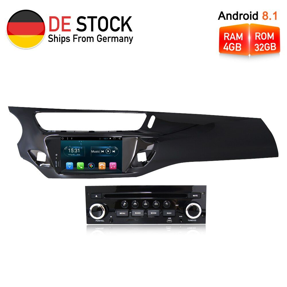 Octa Core Android8.1 Car Radio GPS DVD Multimedia Player Stereo For Citroen C3 DS3 2010-2016 Auto Audio Navigation HeadUnit