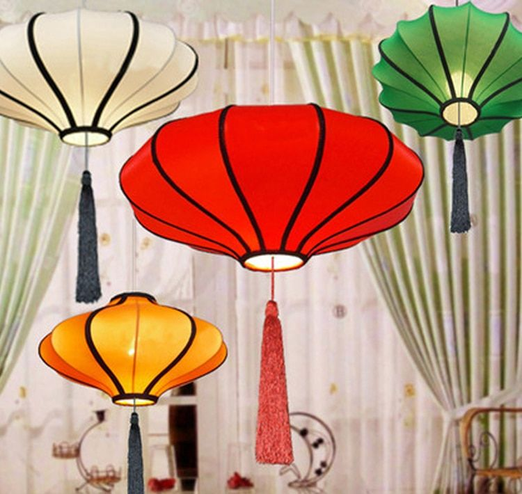 Tissu Lanterne Lumières Pendentif Lumière Nouveauté Lustres Chinois Lanterne Lumières Accueil Hôtel Déco Moderne Pendentif Tissé À La Main Éclairage