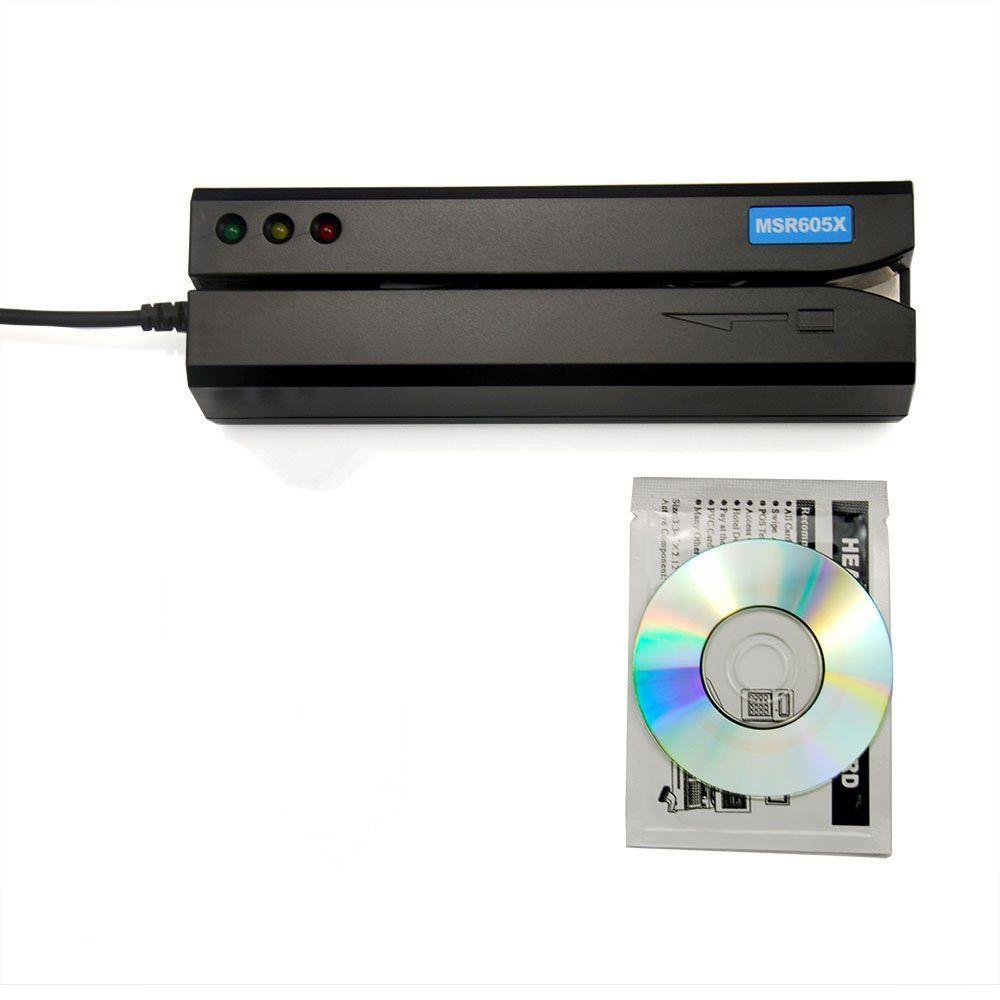 Deftun nouveau lecteur de carte USB MSR605X lecteur de carte magnétique à l'intérieur de l'adaptateur compatible windows Mac MSR606i msr605 msr x6 msr900 msrx6bt