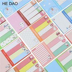Historieta Linda Totoro Hola Kitty Doraemon baymax autoadhesivo pad Memo notas adhesivas Marcadores escuela Oficina fuente 1017