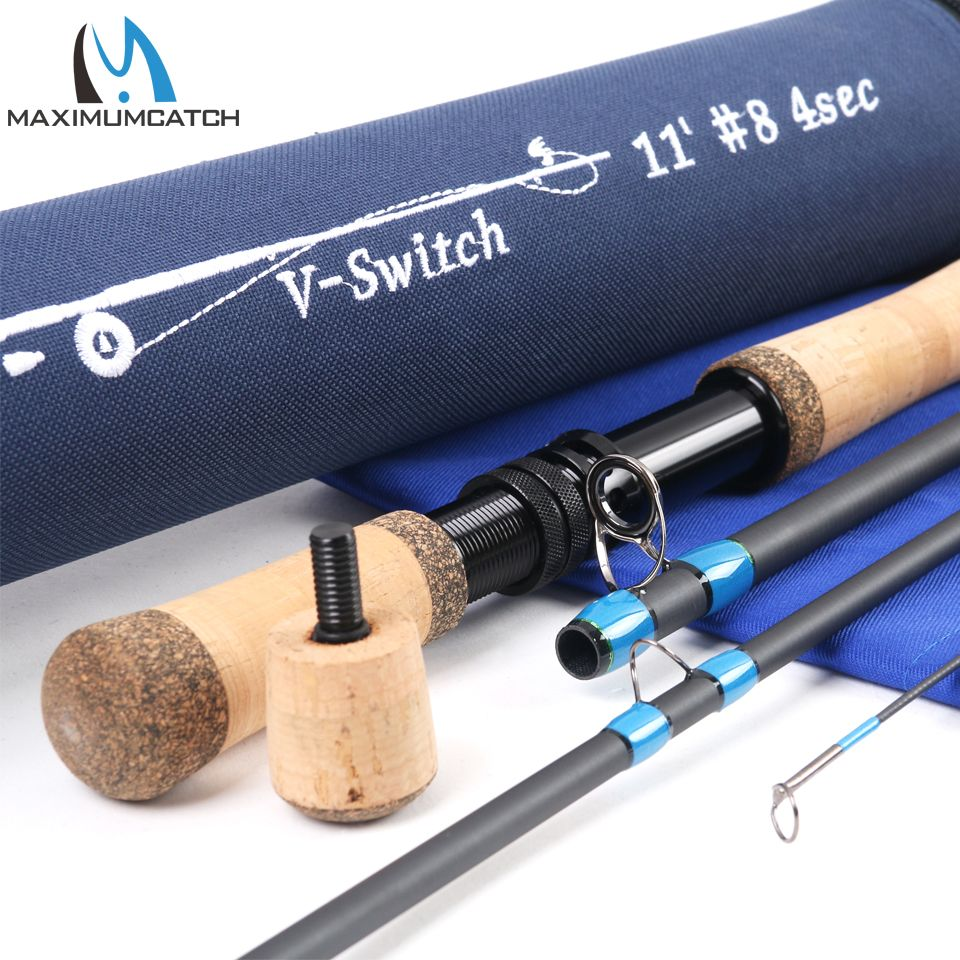 Maximumcatch Switch Fly Rod 10'6''/10'9''/11'/11'6'' 4-9 WT With Switchable Fighting Butts With Cordura Tube Fly Fishing Rod