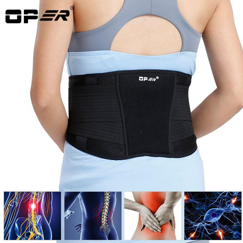 OPER Waist Support Belt Adjustable Lumbar Brace Spine Back Posture Corrector Magnets Protect Slimming Corset Pain relief 2017