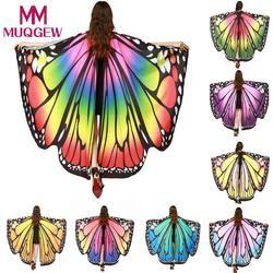 Muqgew 2018 Anak Bayi Perempuan Sayap Kupu-kupu Selendang Syal Peri Peri Poncho Kostum Aksesori Sayap Malaikat Kostum