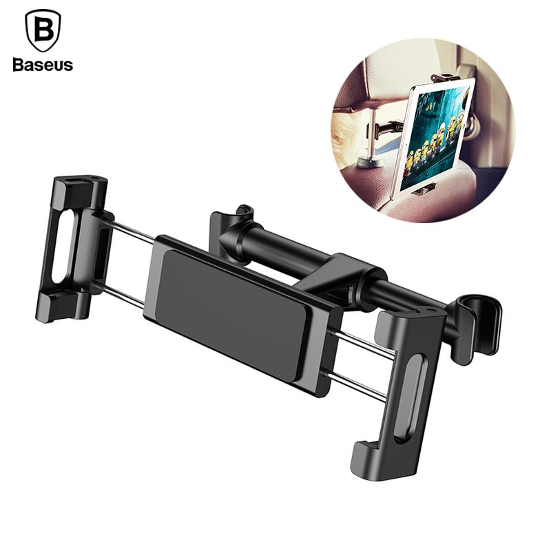 Baseus Car Back Seat Headrest Mount Holder For iPhone X Samsung iPad 360 Degree Bracket Car Backseat Tablet Mobile Phone Holder