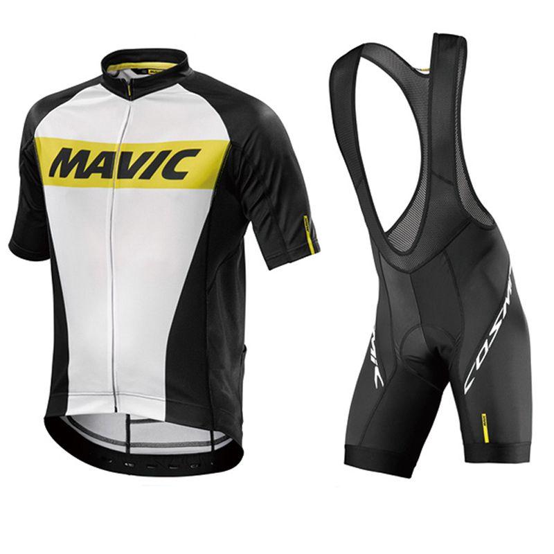 Mavic Cycling Jersey 2017 Summer Team Short Sleeves Quick Dry Cycling Set Bike Clothing Ropa Ciclismo Biclcle Clothing Bib Suits