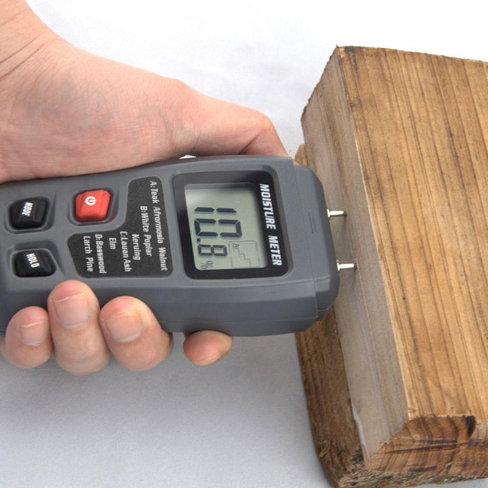 LCD 0-99.9% 2 Pins Holz Industrie Digitales Feuchtemessgerät Luftfeuchtigkeit Tester Holz Damp Detector Leitfähigkeit Feuchtigkeit Hygrometer