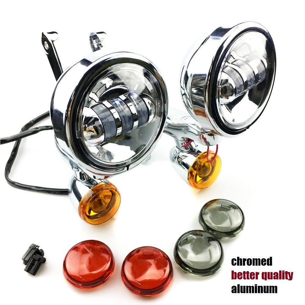 Auxiliary Lighting Brackets fog light with turn signals For Harley Touring Street Electra Glide 06-13 harley Auxiliary fog light