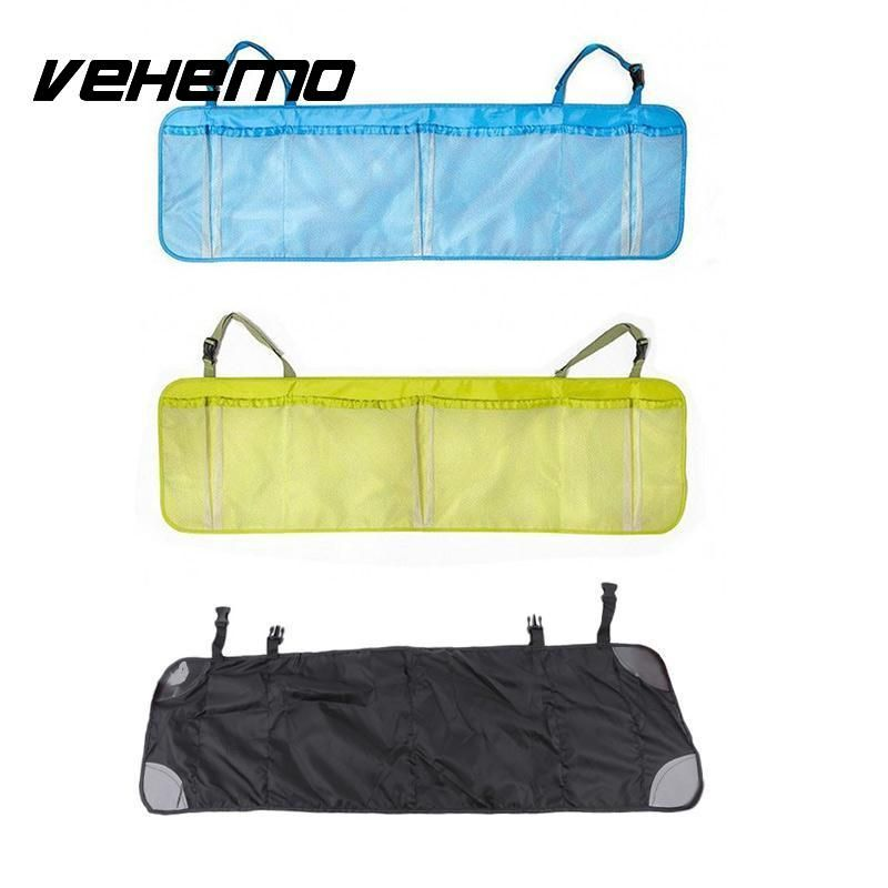 Practical Durable Car Auto Organizer Back Rear Trunk Seat Elastic String Holder Nets Mesh Pocket Cage Carrying Storage Bag