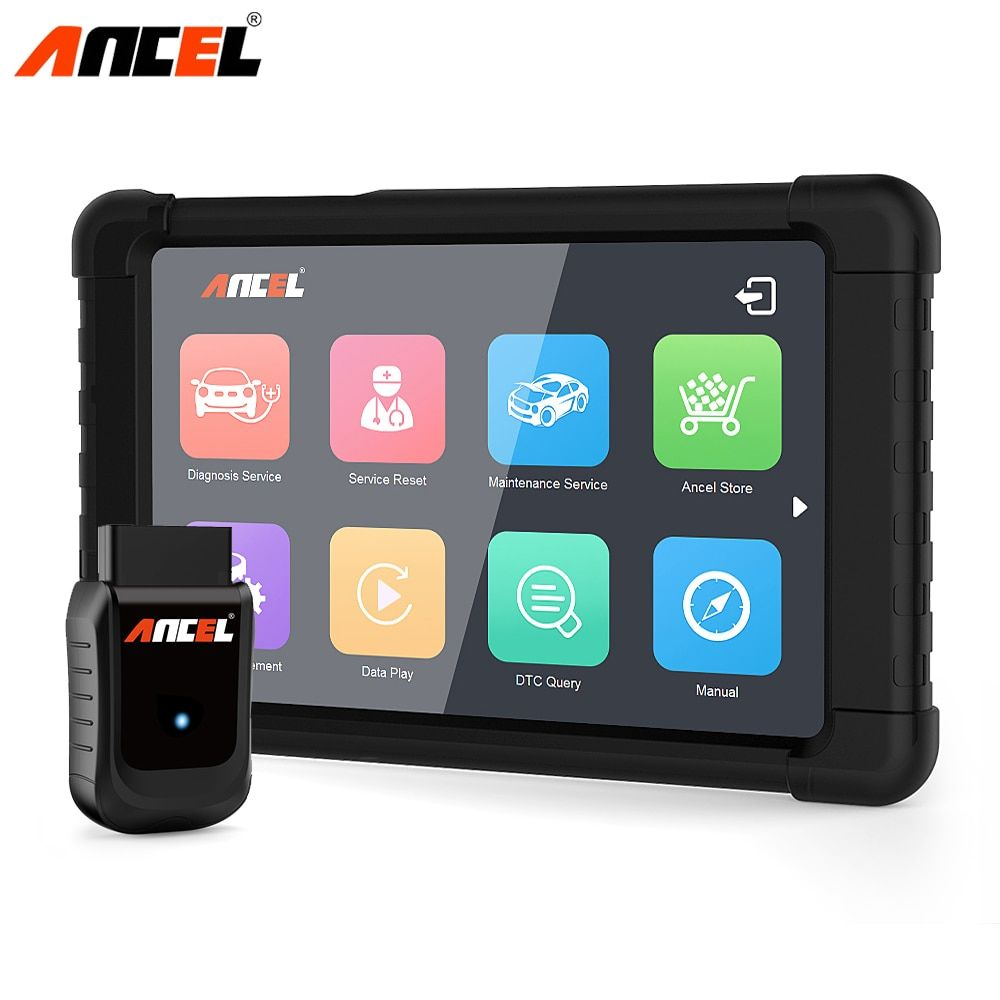 Ancel Professional OBD2 Car Diagnostic Tool WiFi ODB2 Automotive Scanner 8inch Tablet OBD Full System Oil Service Reset ABS SRS