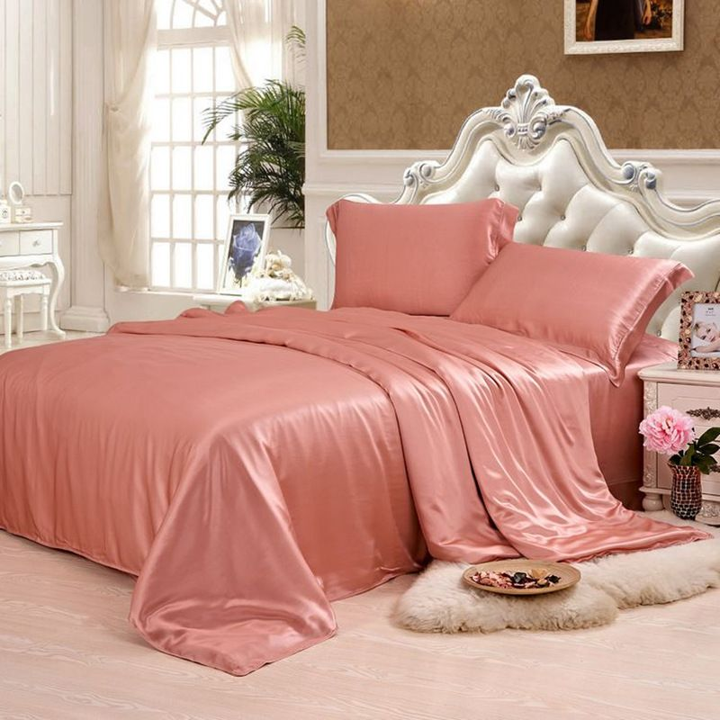 Silk Duvet Cover 1pc 19MM Seamless Silk Cover 100% Mulberry Silk Many Size Customizable size Solid Color ls0295-005