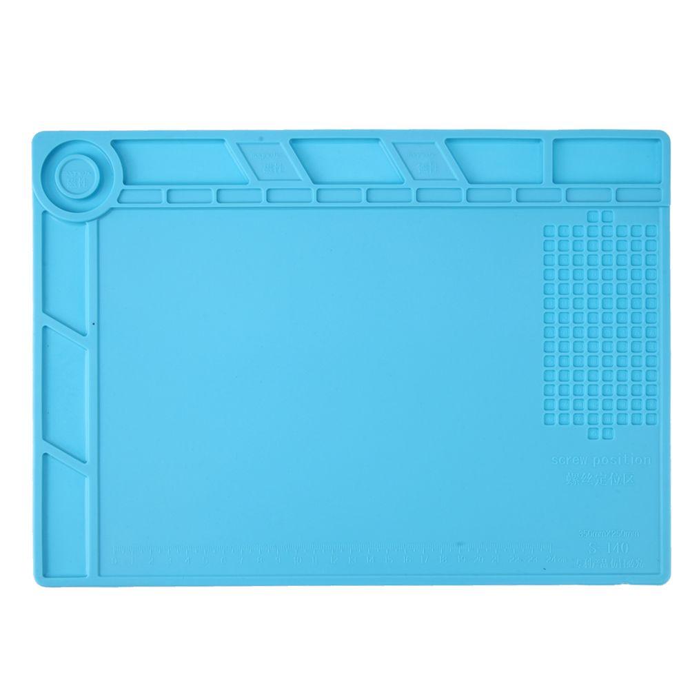 35x25 cm Isolation thermique Silicone Tapis de Bureau Plate-Forme de Maintenance pour BGA À Souder Station Station De Réparation avec Magnétique Section