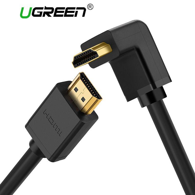 Ugreen Hdmi-kabel 270/90 Grad Winkel HDMI-KABEL, um 5 mt 1,5 mt 2 mt 3 mt HDMI 2,0 Kabel 4 Karat 3D für TV PS3 Projektor Computer kabel