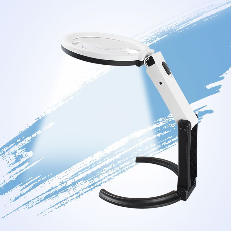 AOMEKIE Pliable Multifonction Grossissement LED Illumination De Poche/Debout Style Loupe Plug/Batteries Puissance