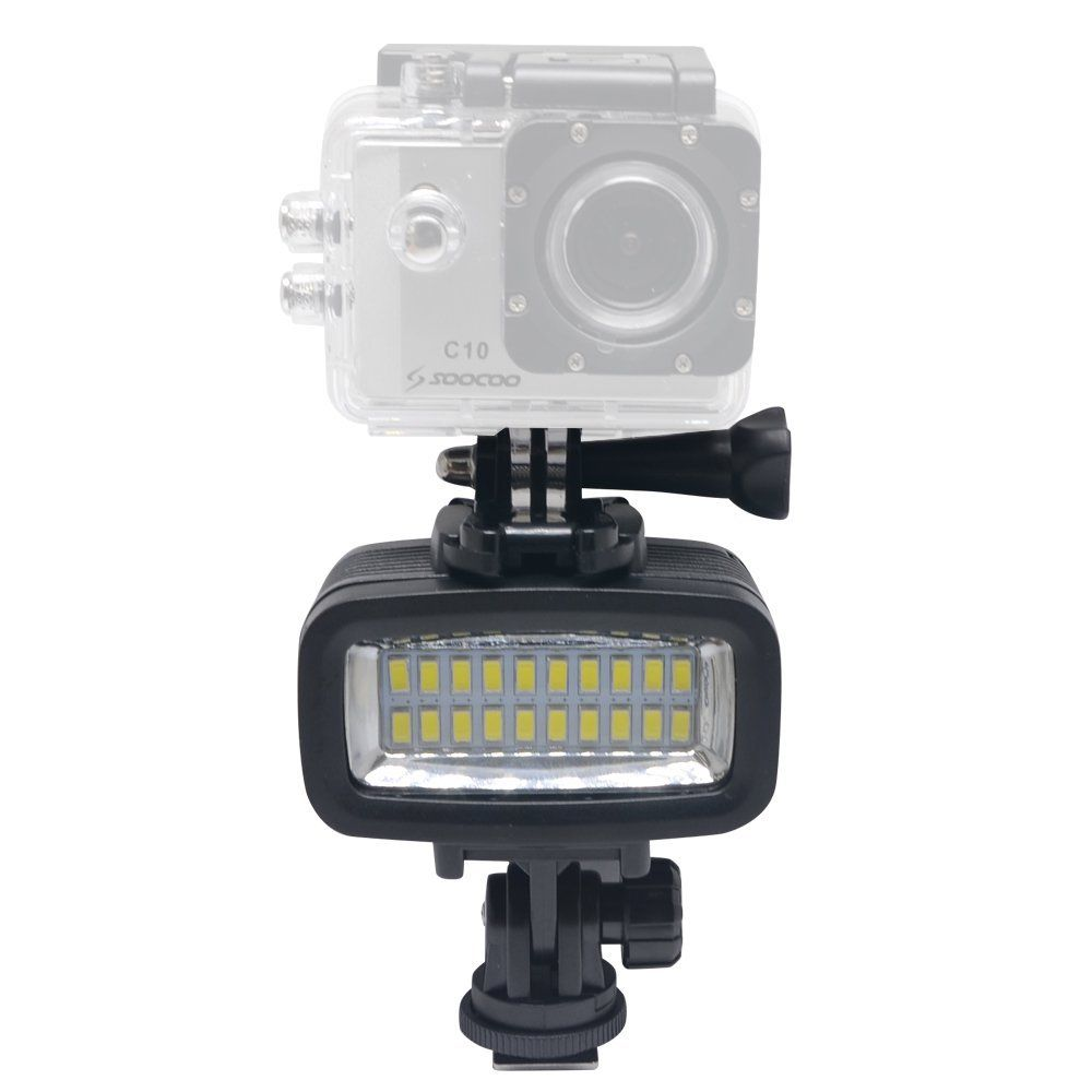 40m Underwater LED Video Light For Gopro Waterproof Diving Lamp Super Bright Accessories for GOPRO SJCAM Sports Action Camera