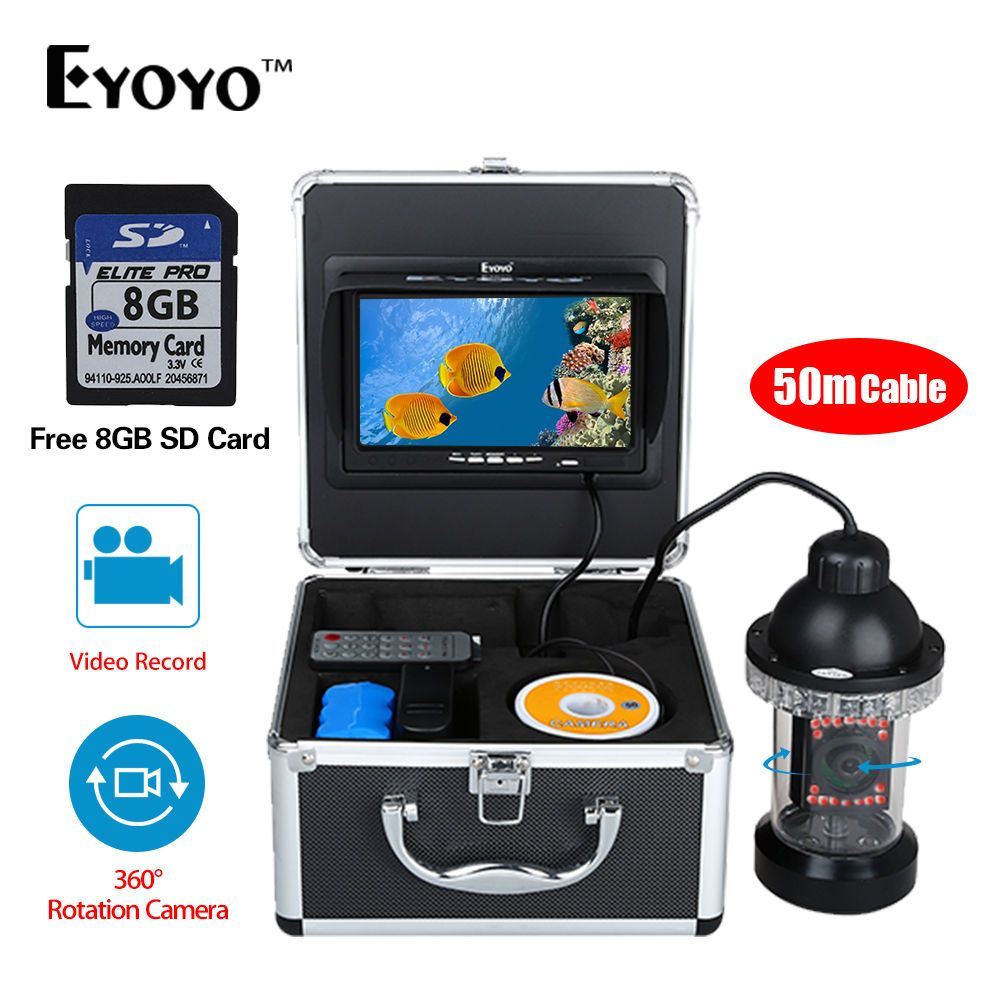 EYOYO 360 Degree Underwater Rotating Fishing Camera Kit Video Recording Function 7