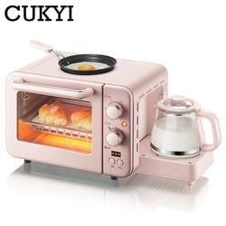 Cukyi Multifungsi 3 In 1 Sarapan Mesin 8L Listrik Mini Oven Kopi Telur Wajan Rumah Tangga Roti Pizza Oven grill