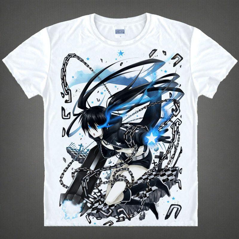 Black Rock Shooter T-shirts kawaii Japanische Anime t-shirt Manga Shirt Niedlichen Cartoon Mato Kuroi Cosplay shirts 37166799598 t 338