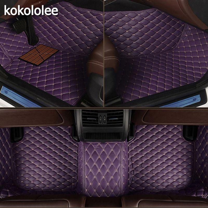 Tapis de sol de voiture sur mesure kokolololee pour Honda tous les modèles CRV XRV Odyssey Jazz City crosstour civic crider vezel fit Accord tapis de voiture