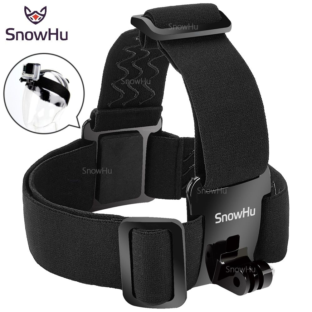 SnowHu for Head strap mount For Gopro Hero 7 6 5 4 3+ Xiaomi yi 4K Action Camera  For Eken H9 SJCAM for Go Pro Accessories GP23