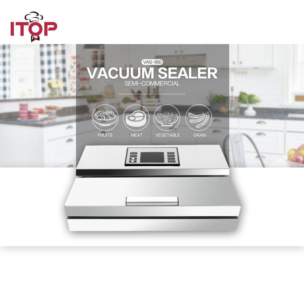 ITOP 2 pc Semi-kommerziellen Vakuum Versiegelung Verpackung Maschine Edelstahl Lebensmittel Fisch Fleisch Gemüse Lagerung Prozessoren 110 V /220 V