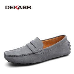 DEKABR marca moda estilo verano Soft Moccasins hombres mocasines de alta calidad zapatos de cuero genuino hombres pisos Gommino conducción zapatos