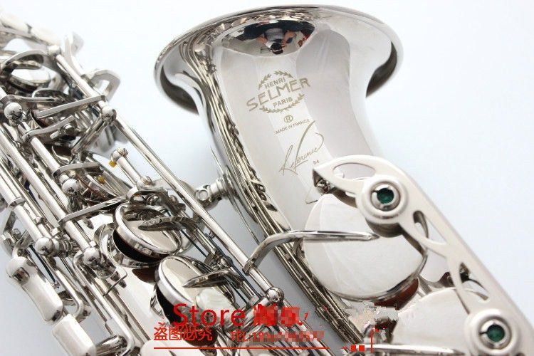 2019 neue Alto Saxophon Frankreich Selme SAS R54 Eb Flache Saxofone Nickel silber Messing Sax Professionelle musical instrument Mundstück