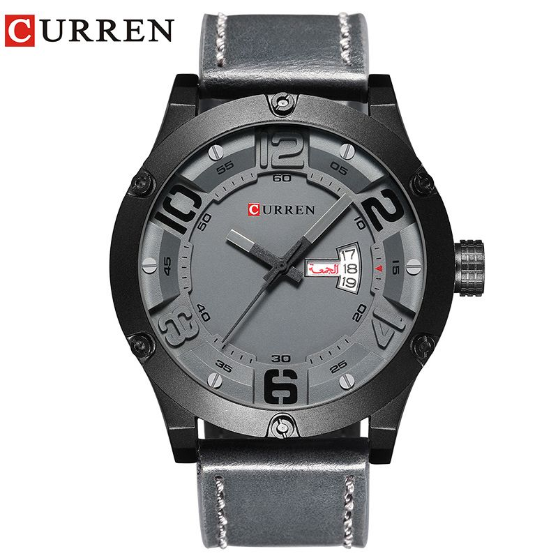 CURREN 2017 fashion top new Luxury Brand Relogio Masculino week Date diaplay Leather strap Men Sports Watches Quartz Clock 8251