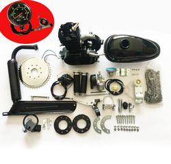 80cc محرك دراجة دراجة الميكانيكيه 2 stroke بنزين محرك الغاز كيت diy بمحركات الدراجة الأسود
