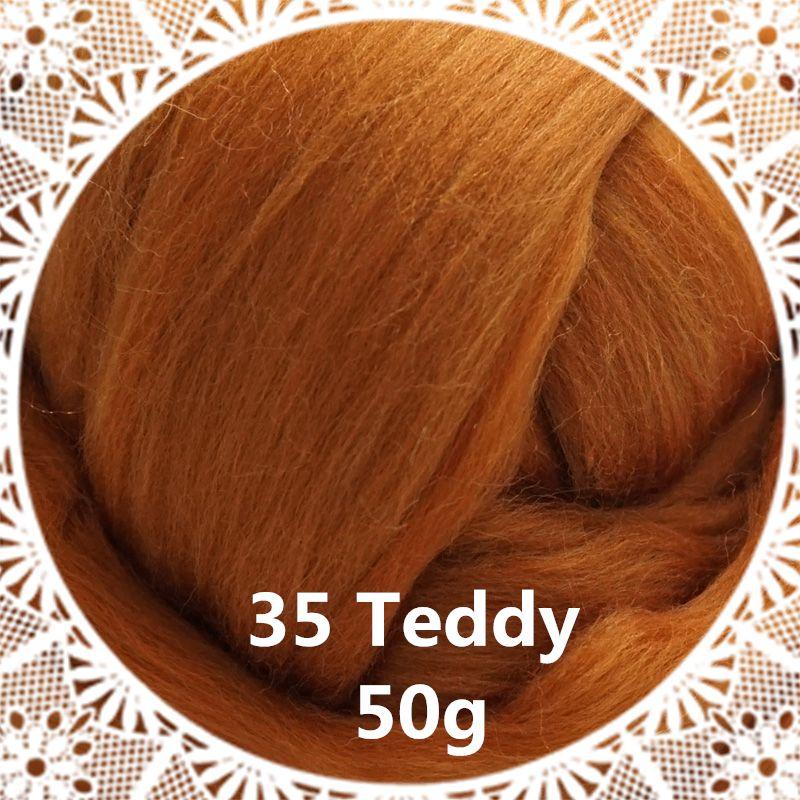 Livraison gratuite main Feutre De Laine pour le feutrage 50g Teddy Parfait en Feutre Aiguilleté 13 #