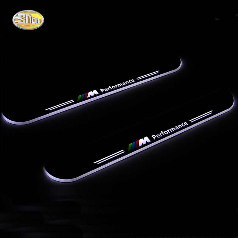 SNCN LED moving light scuff pedal for BMW Z4 E85 E86 E89 2004-2013 car acrylic led door sill welcome pedal