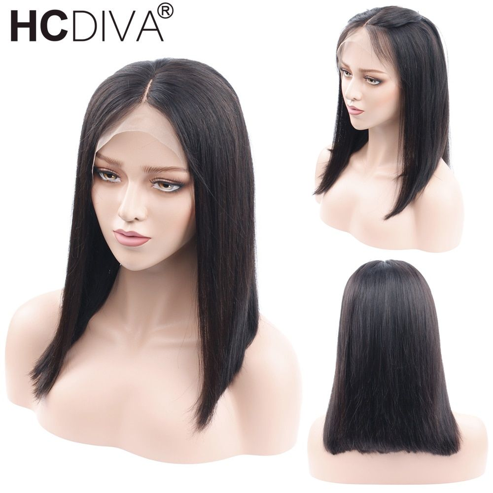 Short Bob Wig Lace Frontal Human Hair Wigs For Black Women 150% Brazilian Remy Straight Lace Frontal Wigs 13*4 Ombre Bob Wigs