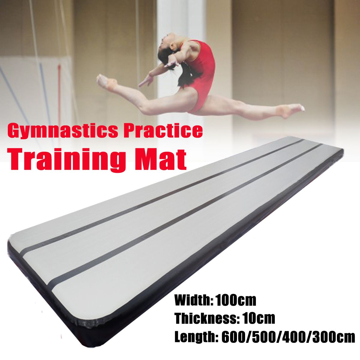 600/500/400x90x10cm Gymnastics Practice Training Mat Pad Inflatable GYM Air Track Mat Airtrack