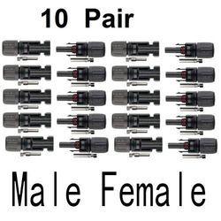 10 Pairs Male Female MC4 Solar Panel Connector IP67 TUV DC1500V PV Accessories