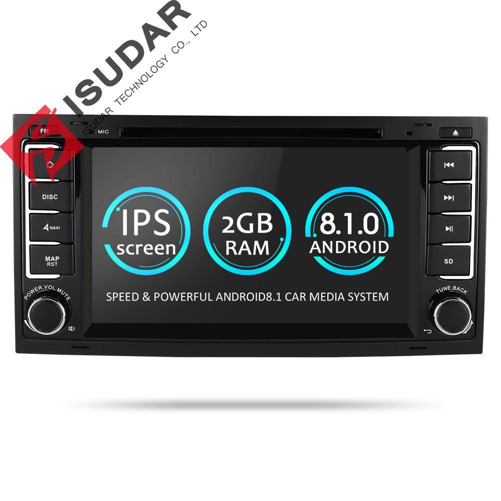 Isudar Auto Multimedia Player Android 8.1.0 2 Din DVD Automotivo Für VW/Volkswagen/Touareg/Transporter T5 Radio GPS 4 Core 2g RAM