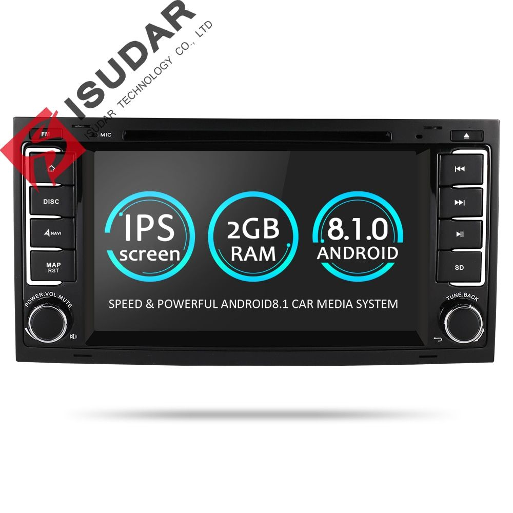Isudar Auto Multimedia Player Android 8.1.0 2 Din DVD Automotivo Für VW/Volkswagen/Touareg/Transporter T5 Radio GPS 4 Core 2g RAM