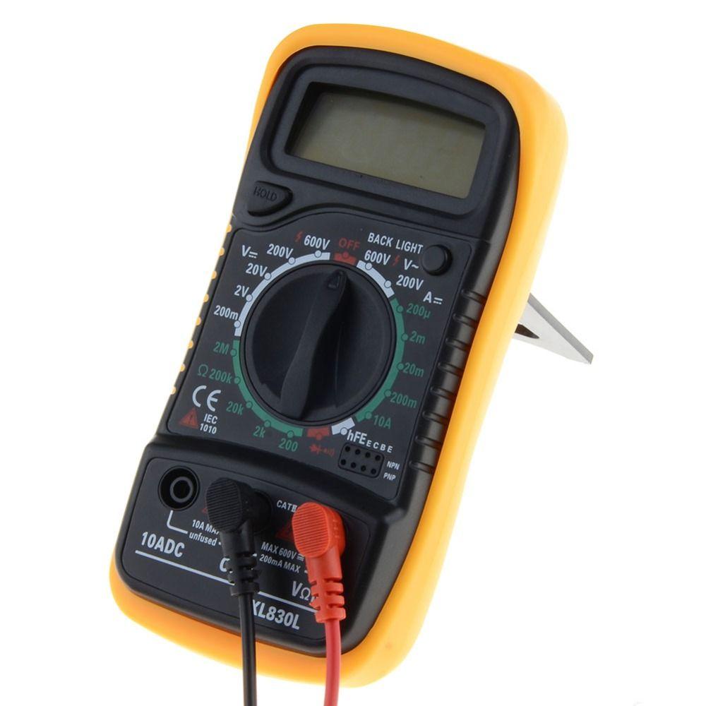 Portable Digital Multimeter Backlight AC/DC Ammeter Voltmeter Ohm Tester Meter XL830L Handheld LCD Multimetro