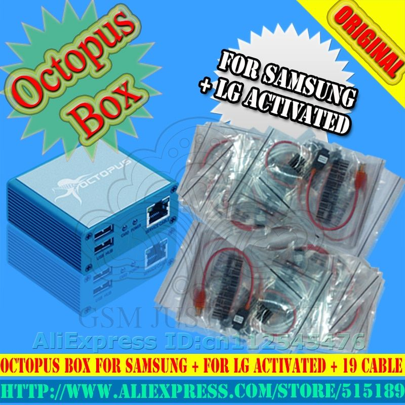 Original Octopus box Full activated for LG  for Samsung 19cables including optimus Cable  Unlock Flash & Repair Tool