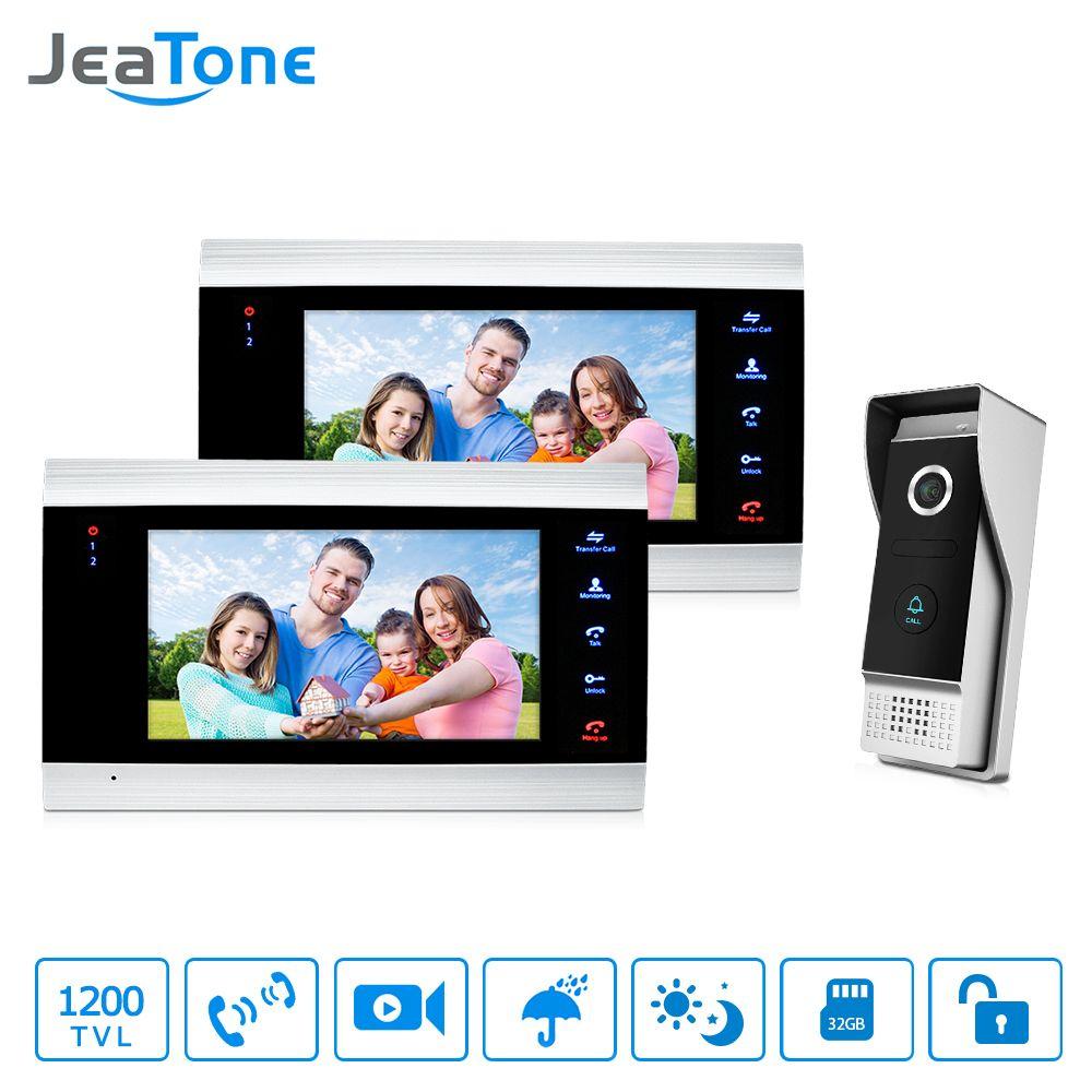 JeaTone Video Door Phone Intercom System 7