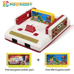 POWKIDDY Hot Video Game Console To TV With Wireless Gamepad Controller retro classic console HD TV Out For 8bit Family TV game