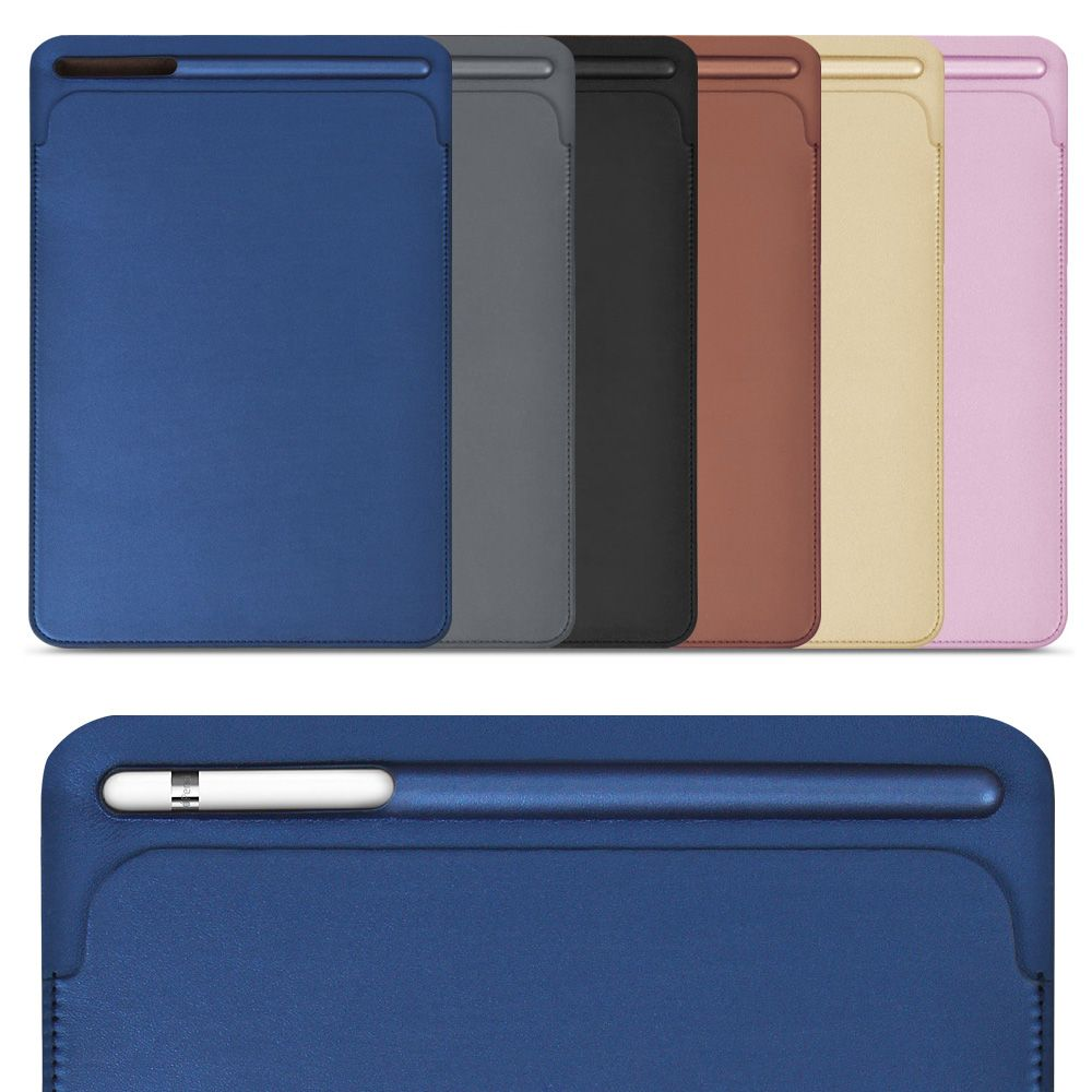 for iPad Pro 9.7 10.5 inch, ZVRUA New 2017 Premium PU Leather Sleeve Case Pouch Bag Cover with Pencil Slot for Pro9.7 Pro10.5