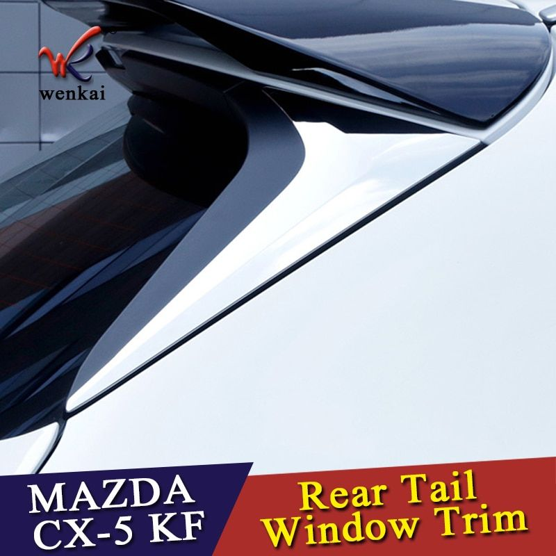 ABS Accessories For Mazda CX-5 CX5 KF 2017 2018 2019 Rear Tail Window Spoiler Triangle Molding Cover Kit Trim 2 Pcs / Set