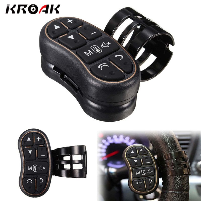 Kroak Universal Wireless Car Steering Wheel Button Remote Car Stereo DVD GPS Control For Car Motorcycle Bike