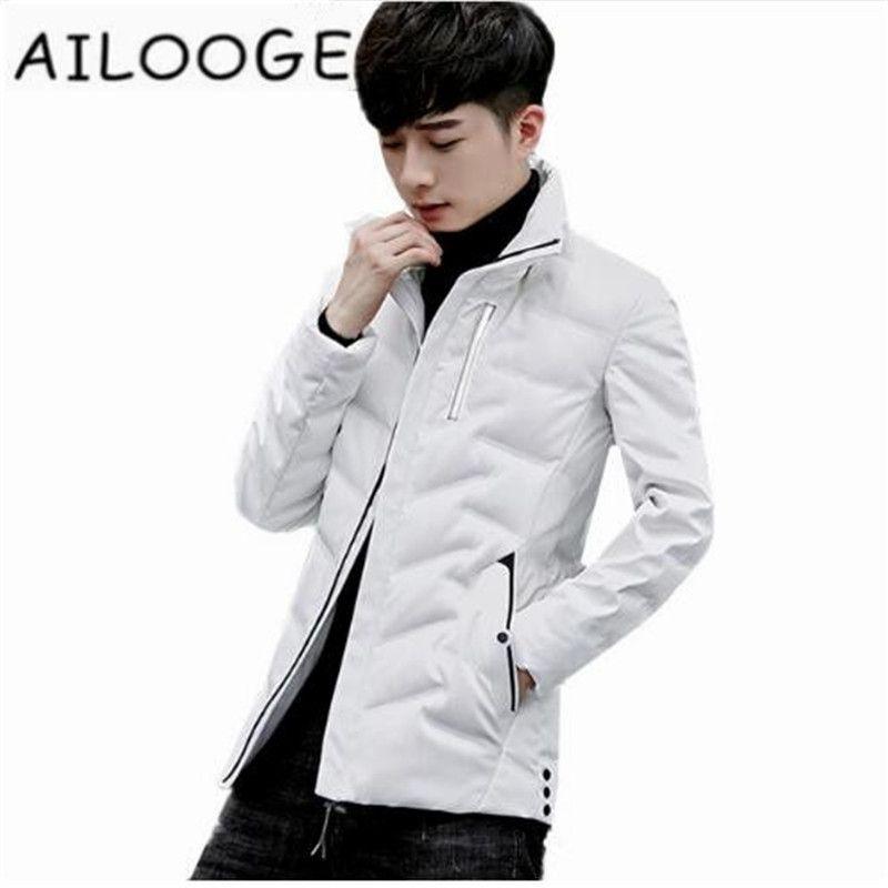 2018 New Winter Down Jacket Men 90 White Duck Down Jackets Parka Stand Collar Man Jacket Coats Chaqueta Hombre