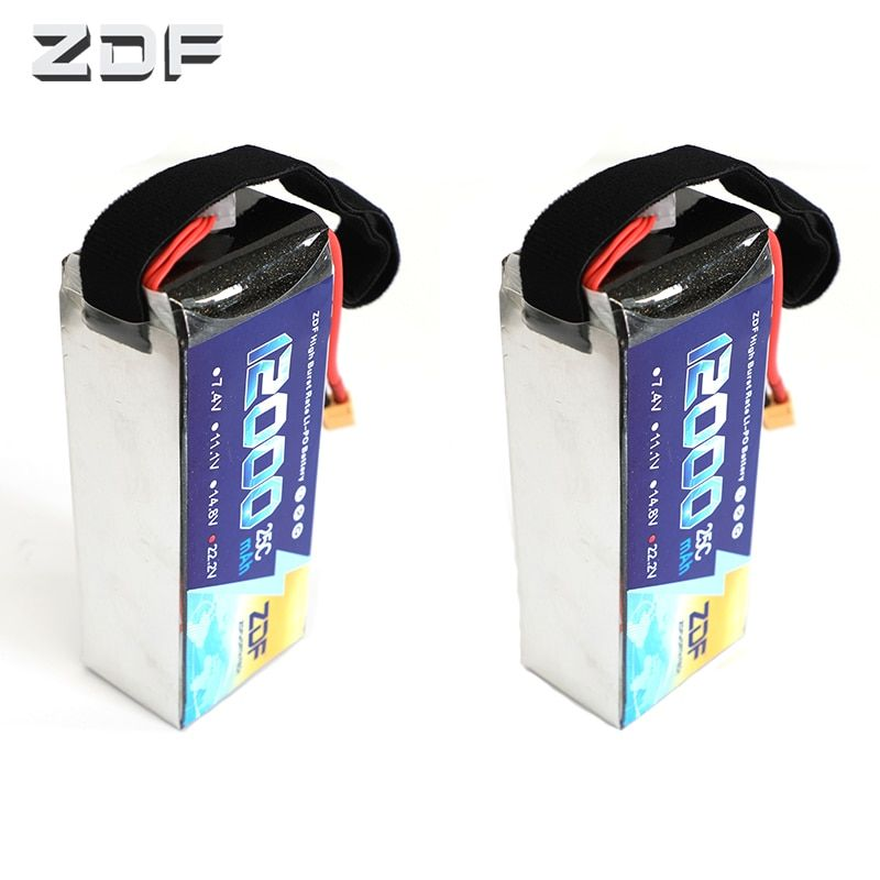 2pcs/lot ZDF 22.2V 6S 12000MAH 25C-50C RC Lipo Battery for Airplane Helicopter Drone UAV model aircraft plant protection machine