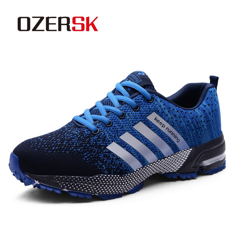 OZERSK 2019 Quality Brand Casual Shoes Men Summer New Unisex Sneakers Breathable Fashion Woven Male Shoes Flats Plus Size 35-47